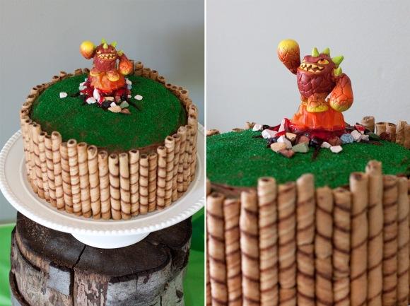 'skylander birthday cake'