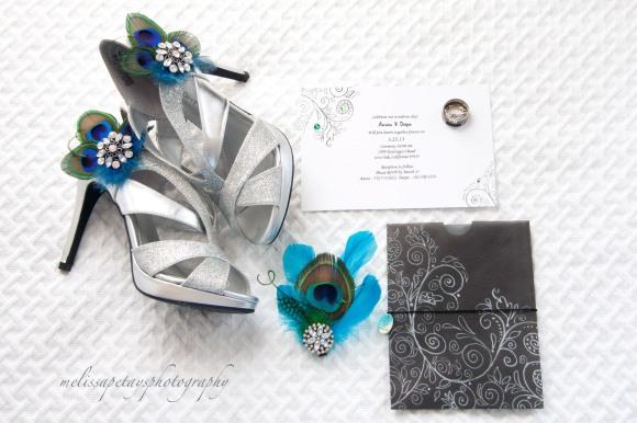 'peacock inspired wedding'