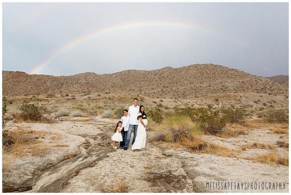 """family under rainbow image"""